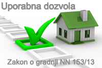 Uporabna dozvola prema novom zakonu o gradnji
