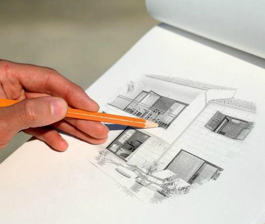 sketch kuće